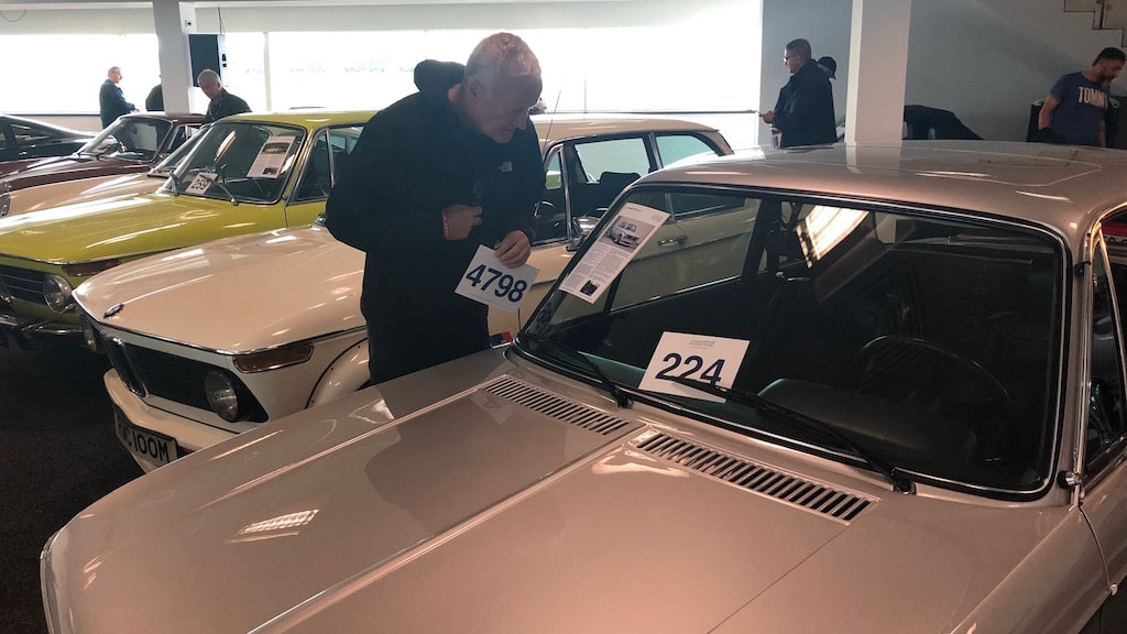 Driver Lowe With His Buying Paddle Eyes Up A BMW 2002 Turbo